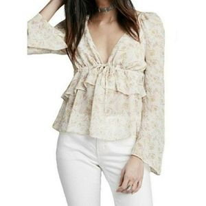 FREE PEOPLE BLOUSE TOP